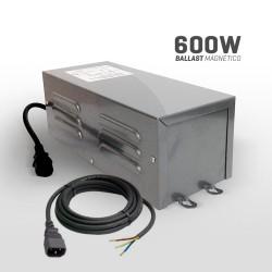 Ballast Magnetico con Cable IEC 600 Watts