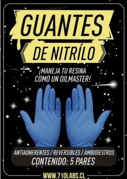Guantes de Nitrilo x5 Pares.
