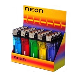 Encendedor Transparente NEON