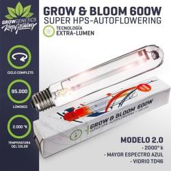 Ampolleta Grow & Bloom 600W Grow Genetics